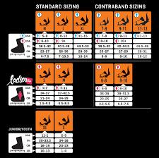 Ride Binding Size Chart Ride Ex Bindings 2012