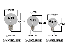 G30 Bulb Size Chart G30 Patio String Lights With 25 Clear Globe Bulbs Outdoor