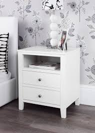brooklyn white bedside table