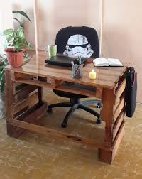 pallet desk, escritorio de pallets made by me,  Pallet DeskPallet Furniture  OfficeWooden ...