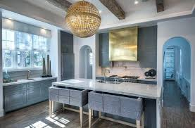 Blue And White Kitchen Design Beautiful Contemporary Kitchen Dark ...