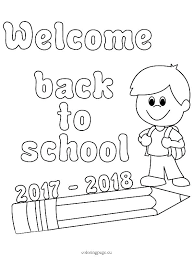 back to school coloring sheet school coloring pages printable free