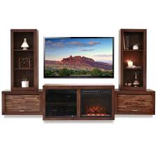 floating fireplace entertainment center console eco geo mocha pertaining to decorations 18