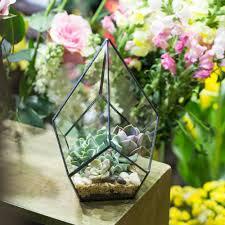 office gardening. Gardening Glass Diamond Shape Indoor Flowers Planter For Succulents Plant Pot Bonsai Home Office Garden Flower Decorative-in Pots \u0026 Planters From #