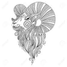 pattern for coloring book coloring book pages for kids and s ram s head