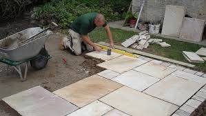 how to lay paving slabs for a patio and