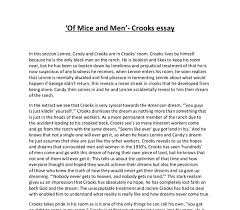 of mice and men in the extract we see that crooks is very cynical  document image preview