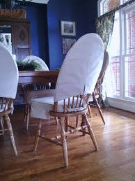 i sewed skirted dining chair cushions and slipcovers for my windsor chairs gave my dining room a nice cal look