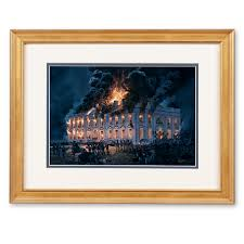 burning of the white house by tom freeman