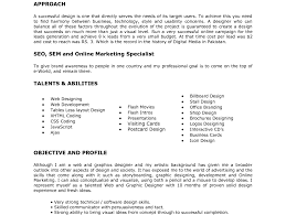 Resume Graphic Designer Sample Sample Resume Sle Of Designer
