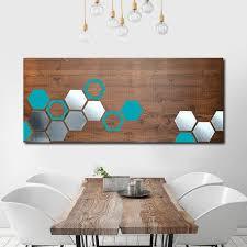 metal art wood wall art geometric art