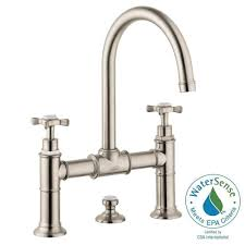 hansgrohe axor montreux 8 in widespread 2 handle mid arc bathroom faucet in