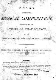 an essay on practical music composition kollmann us general information