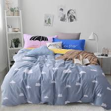smart colorful twin bedding fresh cloud print bedding sets europe twin full queen king