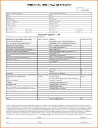 Printable Personal Financial Statement Form Form Financial Statement Form 24