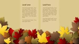Falling Leaves A Powerpoint Template From Presentermedia Com