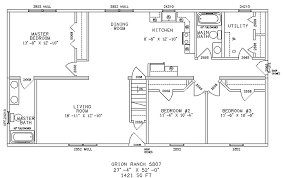 simple ranch style floor plans