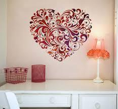 beautiful heart vinyl decorative wall art sticker 1