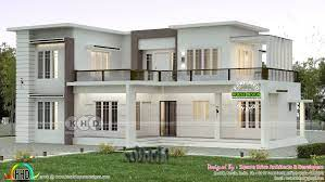 2000 sq ft flat roof home plan with 4