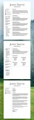 Free Modern Resume Template Design Resources Peppapp