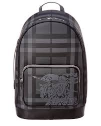 burberry ekd london check leather backpack