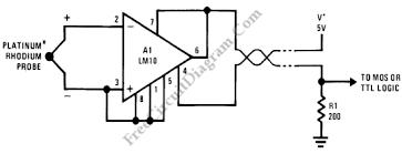 flame detector platinum rhodium thermocouple circuit wiring flame detector