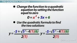 quadratic functions examples formula lesson transcript study com