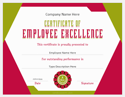 5 Best Certificates Of Employee Excellence Professional