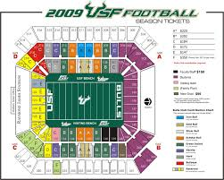 Raymond James Stadium Seating Chart Outback Bowl Raymond James Stadium Stadiums Cfb History