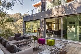 affordable modern outdoor furniture. Affordable Modern Outdoor Furniture Deck With Portola Valley Sliding  Doors Affordable
