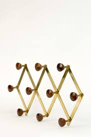 High Quality Coat Rack Luigi Caccia Dominioni Brass and Rosewood Coat Rack for Azucena 96