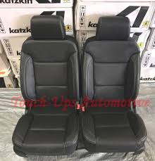 2016 2016 gmc crew cab sle sierra katzkin black leather seat cover replacements