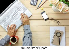 Business taxes accounting with calculator in office work stock