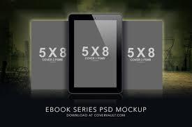 dystopia ebook series psd mockup