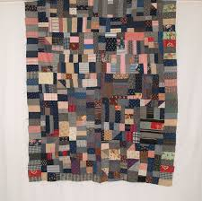 Antique & Vintage Gee's Bend Quilts - African American Quilts & QT278 Bars & Blocks Quilt Top Adamdwight.com