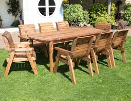 wooden garden table and 8 chairs dining set outdoor patio solid wood garden furniture