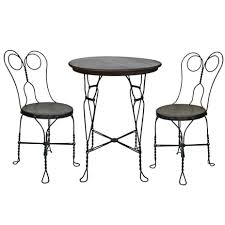Twisted Wire Ice Cream Parlor Set W Table And Two Chairs C1900 At
