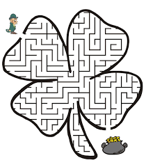 Maze clipart st patrick - Pencil and in color maze clipart st patrick