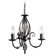 artisan dual mount traditional 3 arm ceiling light black