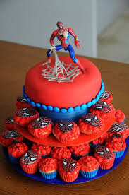 12 Cakes With Cupcakes For Mans Photo Spider Man Cupcake Birthday