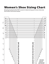 Womens Shoe Sizing Chart Free Download
