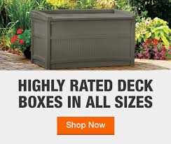 deck boxes outdoor storage the home