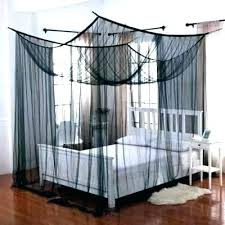 Black Canopy Bed Curtains Blackout Cur – looocals