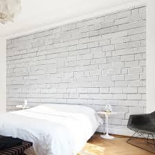 Backstein Tapete Weiß White Stonewall Vliestapete Premium Breit