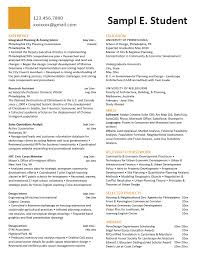 Relevant Experience Resume Custom Career Services Sample Resumes For PennDesign Students