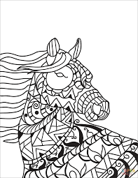 the horse head zentangle coloring pages to view printable version or color it patible with ipad and android tablets