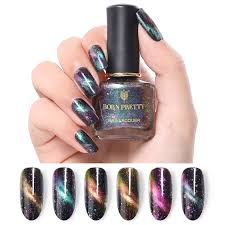 Us 208 38 Offborn Pretty 6ml Chameleon Cat Eye Nail Polish Manicure Magnetic Sequins Varnish Nail Art Lacquer Black Base Needed Lak Na Nehty In