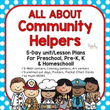 Community Helpers Chart Community Helpers Teach Pre K