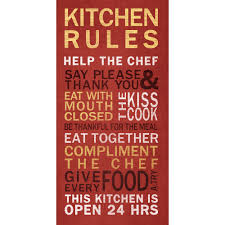 Kiss The Cook Kitchen Decor Kitchen Rules Wall Art Walmartcom