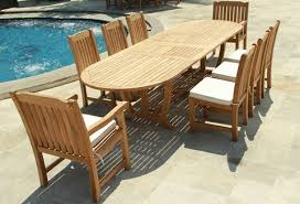 teak patio set. Deluxe Teak Table Set 9Pcs Patio